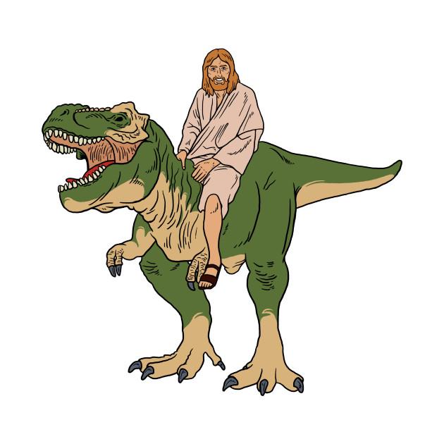 Jesus On Dinosaur