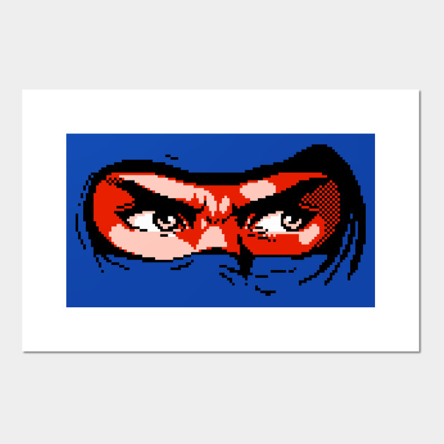 Ninja Eyes Ninja Gaiden Posters And Art Prints Teepublic Au