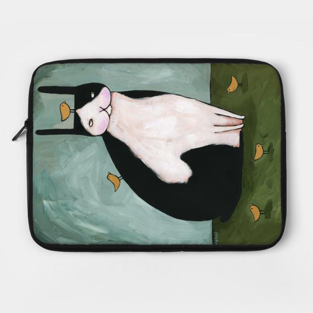 Folk Art Rabbit and Chick Friends