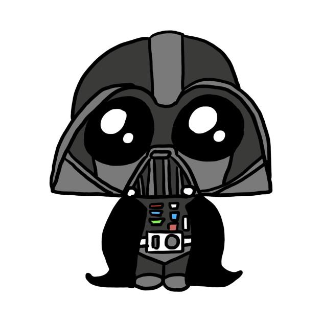 Darth Vader Cute - Science Fiction - T-Shirt | TeePublic