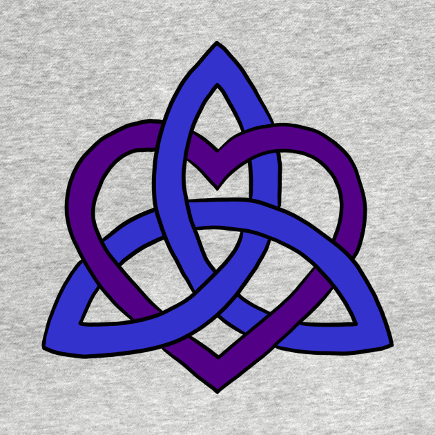 Celtic Knot Heart Blue And Purple Celtic Knot Heart T Shirt Teepublic