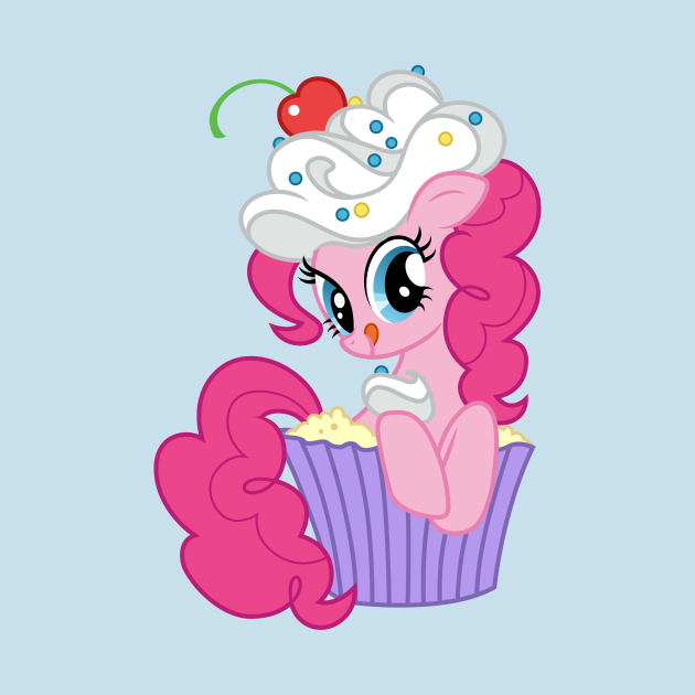 Pinkie Pie in a cupcake