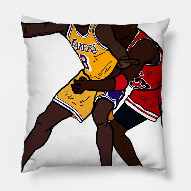 766b1dc2471c Kobe Bryant VS Michael Jordan GOAT - Los Angeles Lakers Chicago Bulls Pillow