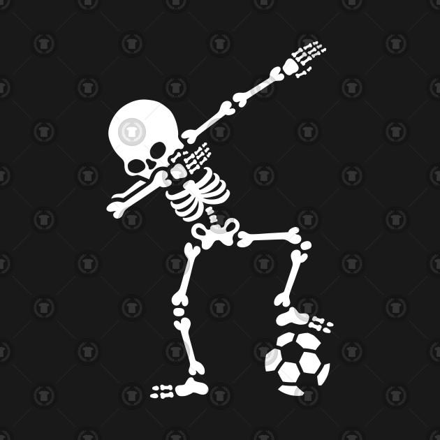 Dab dabbing skeleton football (soccer)