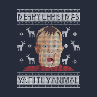 Christmas Home Alone Filthy Animals Knit t-shirts