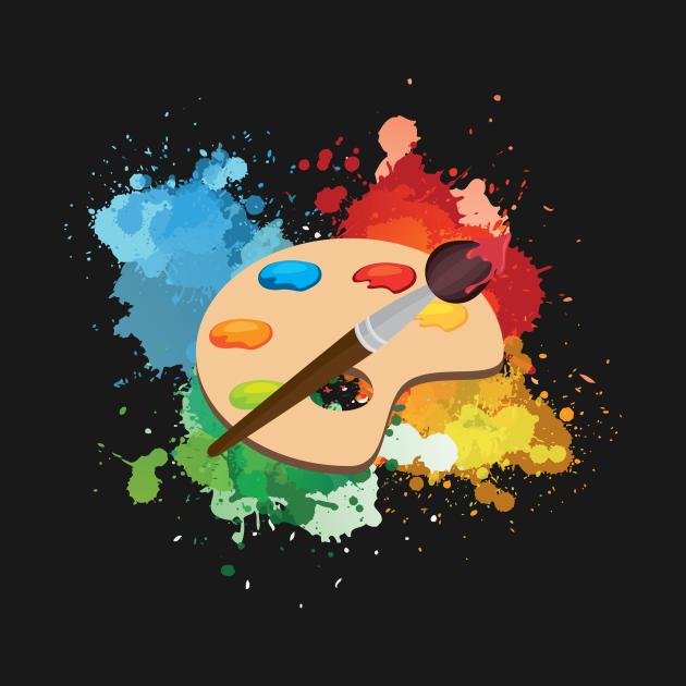 Artist Paint Palette Arts Crafts Painter Gift
