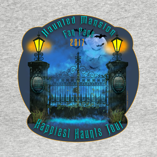 Haunted Mansion Group Teeshirt by Topher Adam 2017