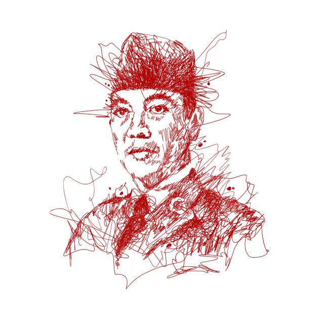 Scribble Drawing T Shirt : Soekarno scribble art t shirt teepublic