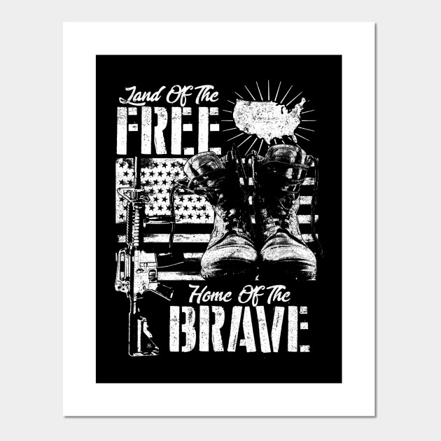 America Brave And Free America Posters And Art Prints Teepublic Au