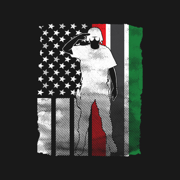 6725ea371 ... T-Shirt. New!Back Print. Proud African American Military Soldier Flag  Proud African American Military Soldier Flag