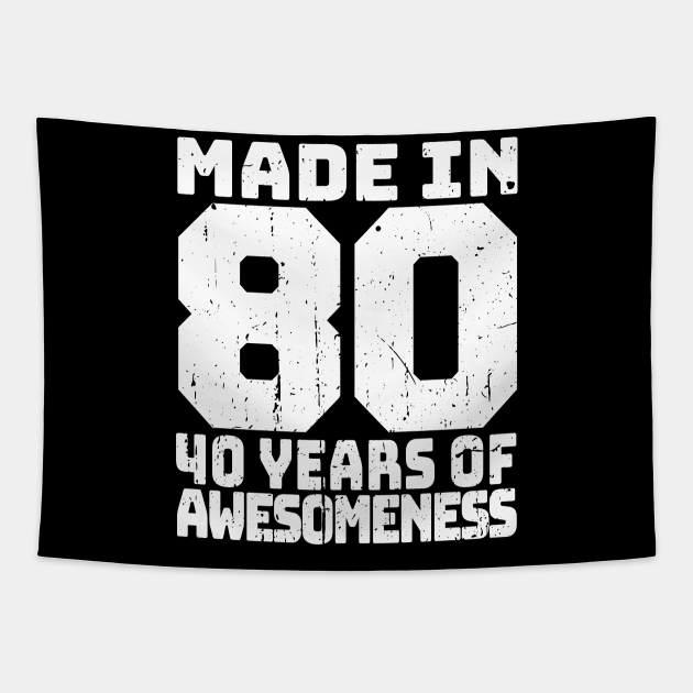 Vintage 40th Birthday, Made in 1980 Bday