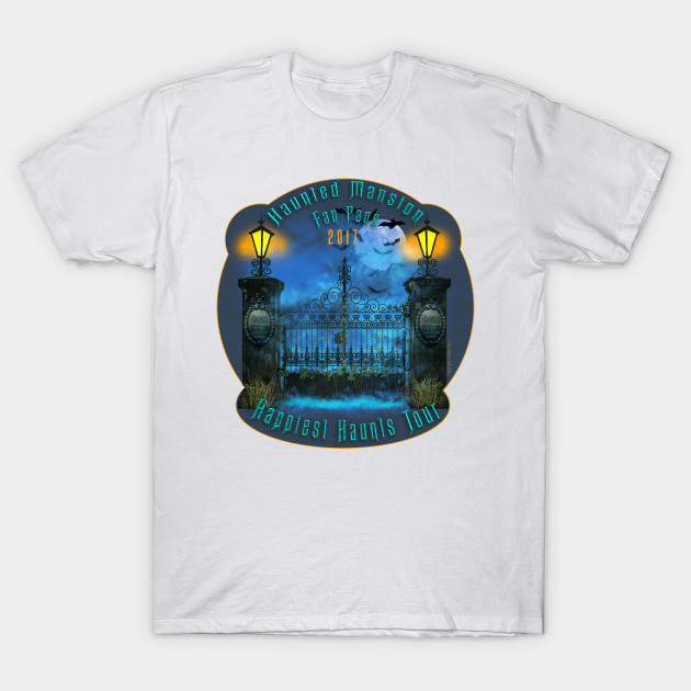 Haunted Mansion Group Teeshirt by Topher Adam 2017 T-Shirt-TOZ