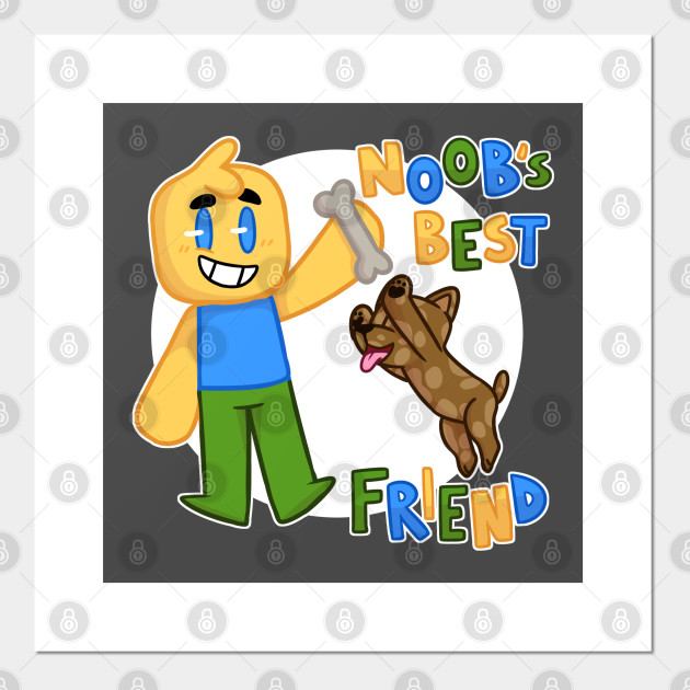Noob S Best Friend Roblox Noob With Dog Roblox Inspired T Shirt