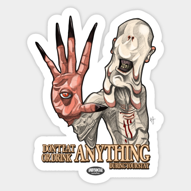 The pale man sticker