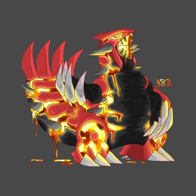 Primal Groudon - Pokemon - T-Shirt   TeePublic
