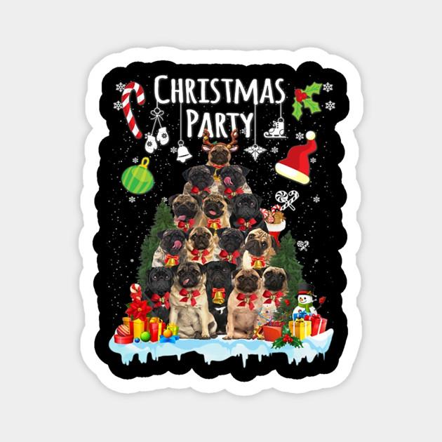 Pug Christmas Party Funny Xmas Dog Costume Gift