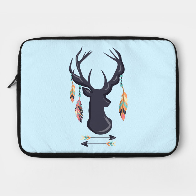 Bohemian Deer Antlers With Feathers Arrow Shirt Gift