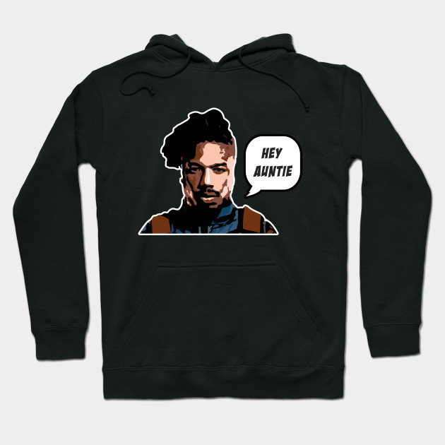 ae7414ce Black Panther Killmonger Hey Auntie Quote - Killmonger - Hoodie ...