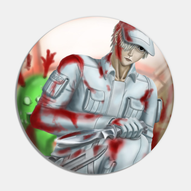 White Blood Cell (With Bloodstain)