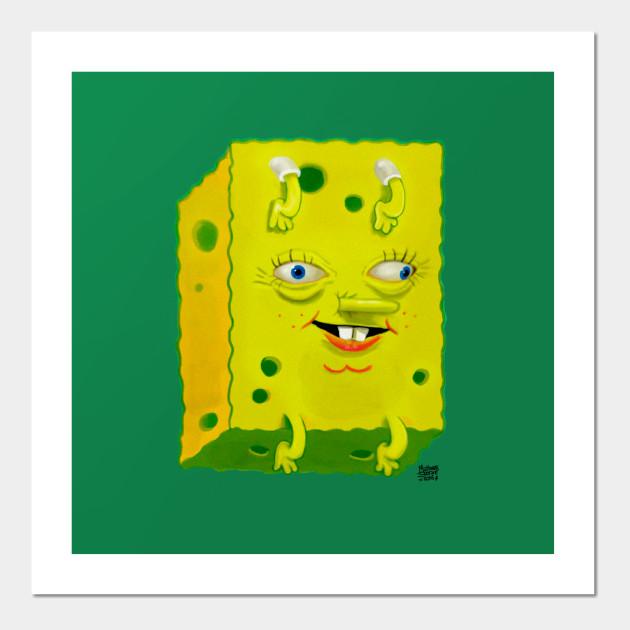 Ugly Spongebob - Spongebob Squarepants - Wall Art | TeePublic