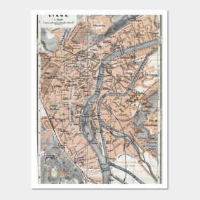 vintage map of lige belgium 1905 home goods