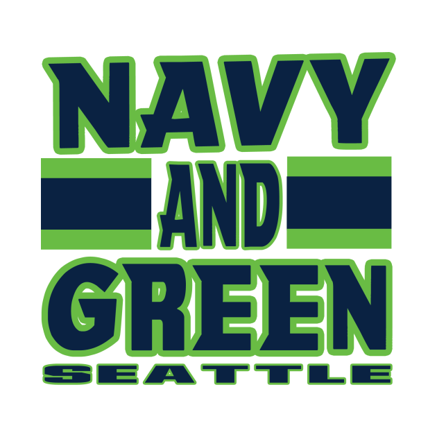 Seattle LYFE Navy and Green True Football Colors!