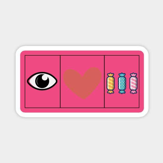 I Love Heart Sweets Pink Kids T-Shirt