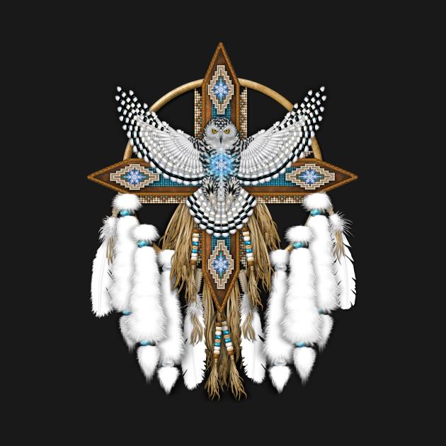 Snowy Owl Native American Mandala