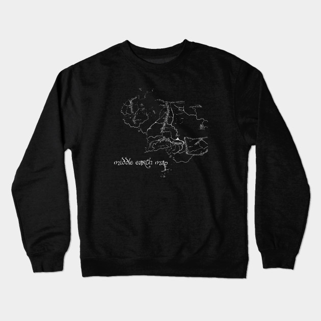 Middle Earth Map - Lord Of The Rings - Crewneck Sweatshirt | TeePublic