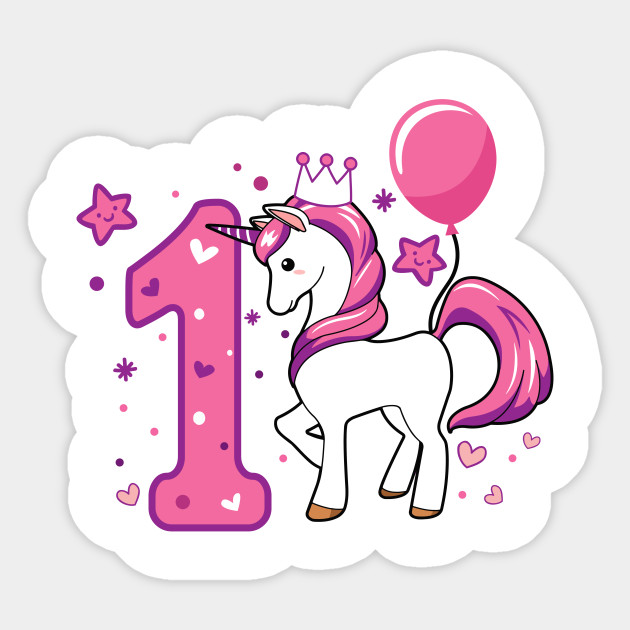 First Birthday Girls Horse 1st 1Girl Daughter Niece Cute Sweet One Year Old Mug Sticker Pillow Gifts Ideas