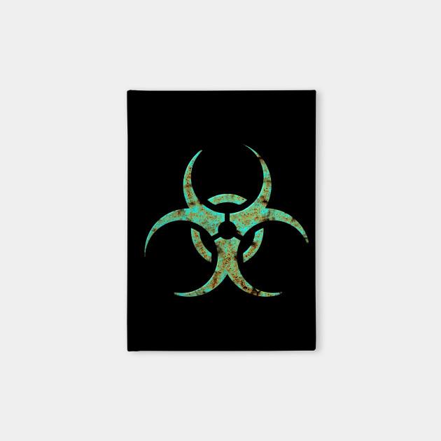 Biohazard Symbol October Notebook Teepublic