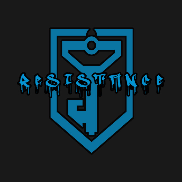 Ingress Resistance Graffiti (black outline)