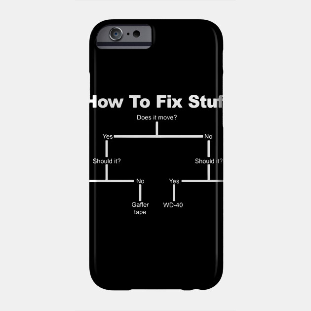 8c4052ec69 How to Fix Stuff T-SHIRT Tee Him Diy Engineer Builder Funny birthday t- shirts Phone Case