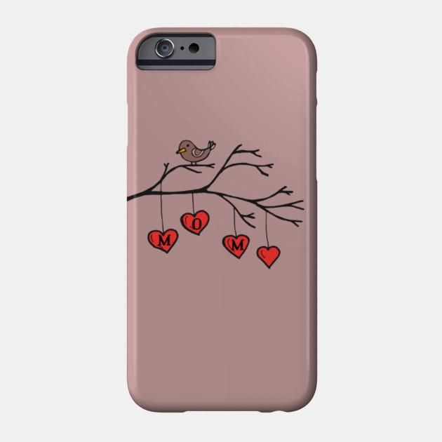 Love Mom Bird on Branch