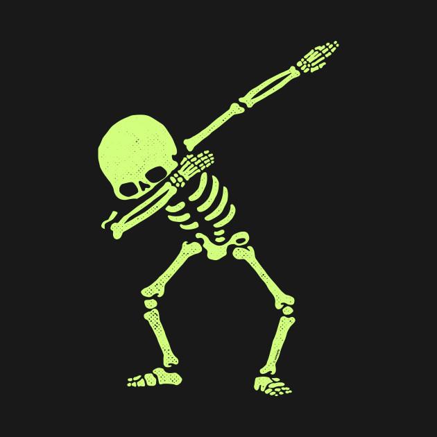 Dabbing Skeleton Shirt Dab Hip Hop Skull Dabbin Glow Effect