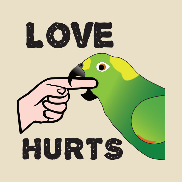 Love Hurts - Yellow Napped Amazon Parrot