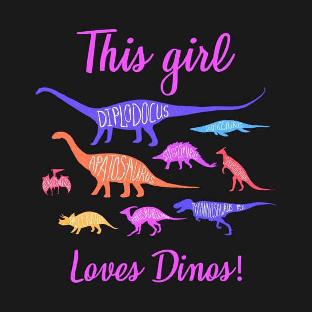 This Girl Loves Dinos T-Shirt, Dinosaur Shirt, Dinosaur Birthday Shirt, Dino Shirt, Birthday Shirt, Girl Dinosaur Shirt, T-Rex Shirt