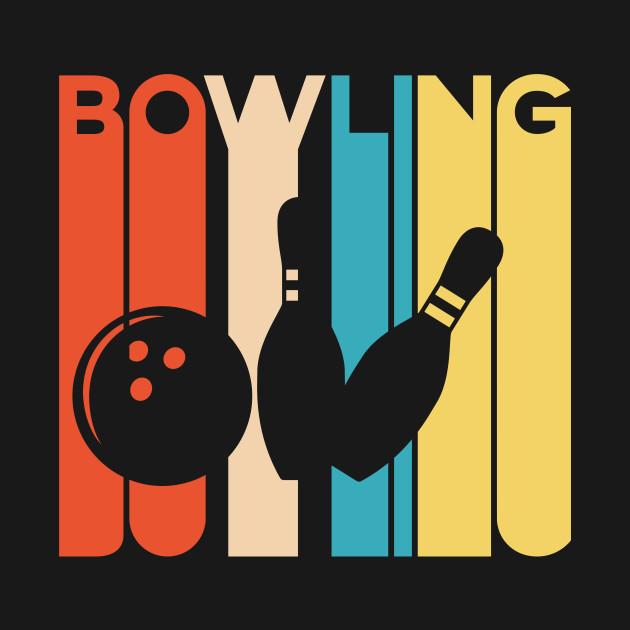 T Shirt Bowling Designs   Vintage Bowling Design Art For Bowlers Vintage Bowling T Shirt