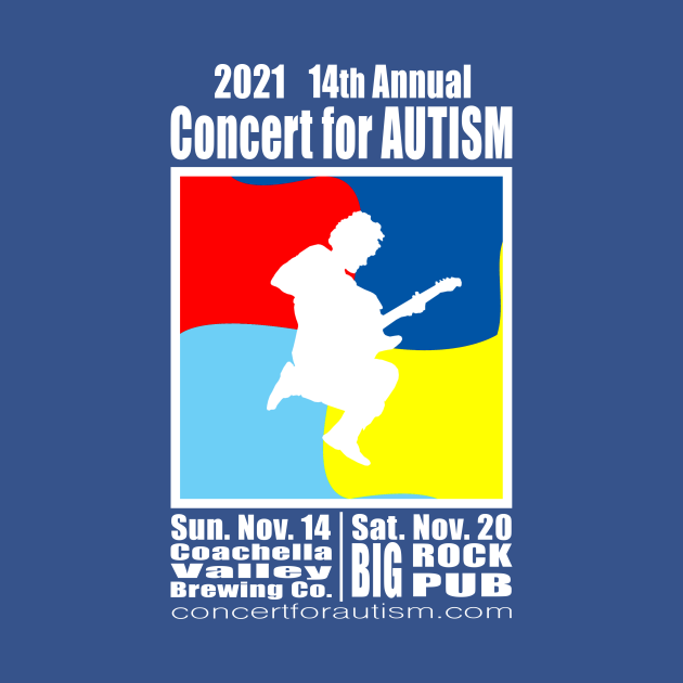 2021 14th Annual Concert for Autism First Flyer Tee