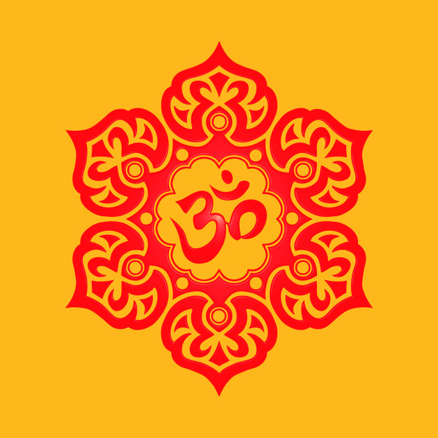 Red lotus flower yoga om lotus flower t shirt teepublic 763187 1 mightylinksfo