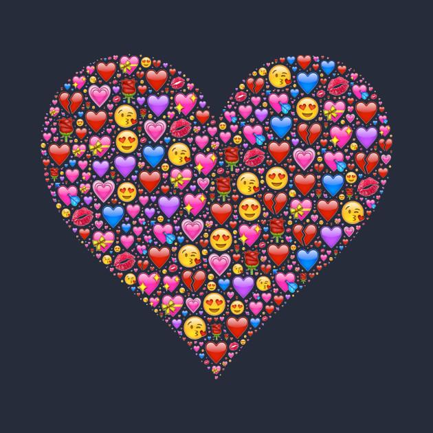 a heart full of love emojis heart emoji t shirt teepublic