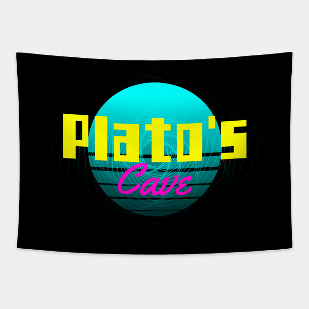 Plato's Cave 80s 90s Retro Vintage Philosophy Gaming Gift Shirt for Philosophers Gamers Teachers and Book Enthusiasts