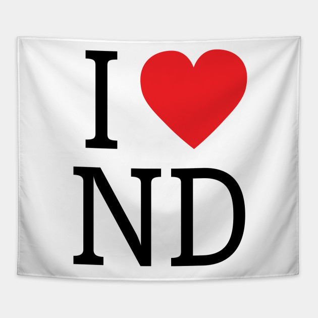I Love North Dakota I Love North Dakota Tapestry Teepublic
