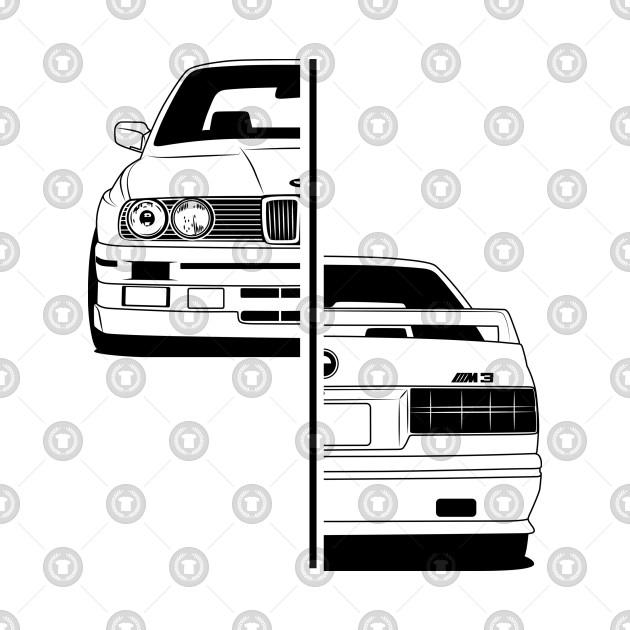 BMW E30 M3 Front & Rear Best Shirt Design