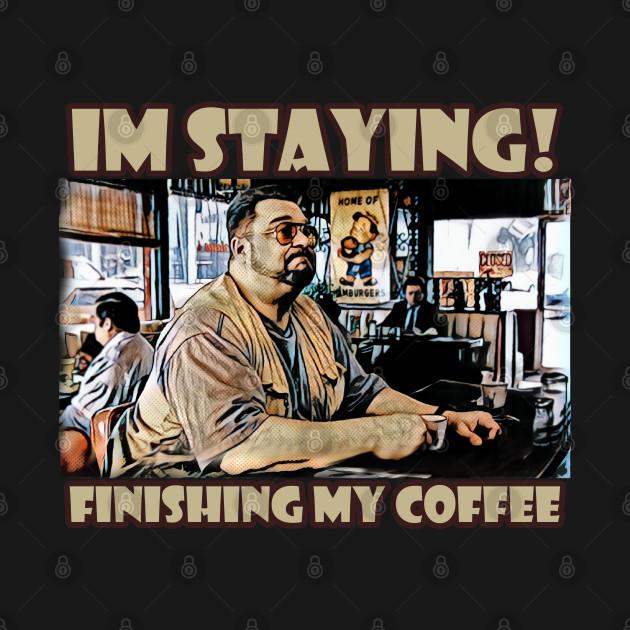 Finishing my coffee