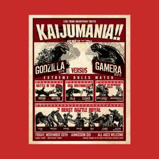 Kaijumania!! t-shirts