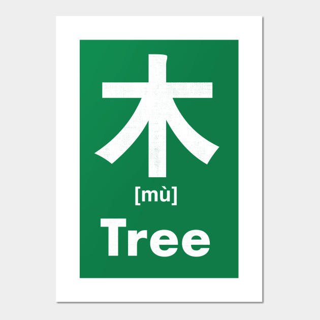 Tree Chinese Character Radical 75 Tree Posters And Art Prints