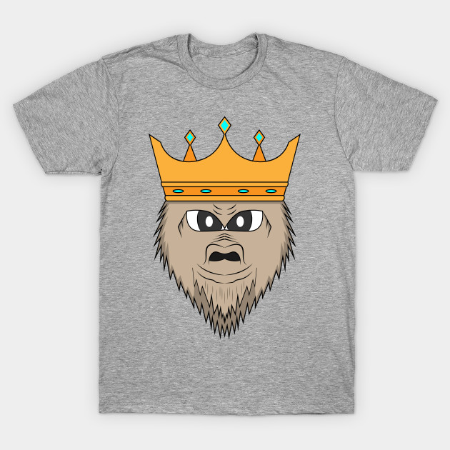 5134f71e Gorilla king - Gorilla King With A Crown - T-Shirt   TeePublic