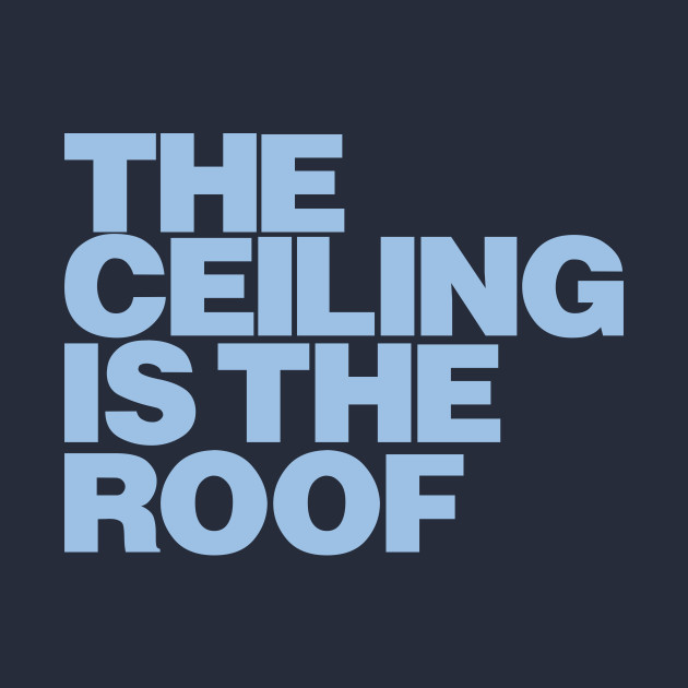 the ceiling is the roof blue