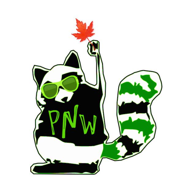 PNW Rebel Raccoon Maple Leaf